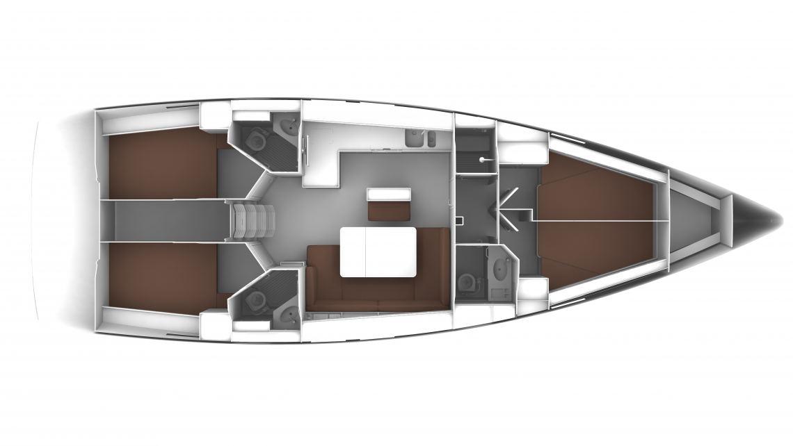 Bavaria-yachts Bavaria 46cruiser Layout 1