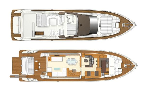 Ferretti Yacht 800 Layout 1