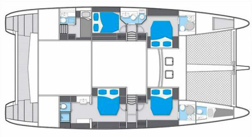 Sunreef-catamaran Sail 58 Layout 1
