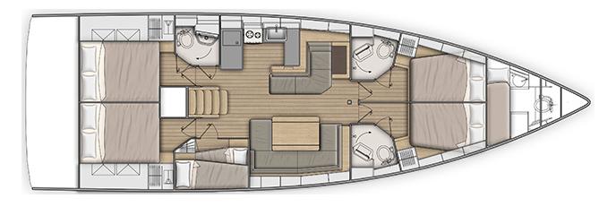 Beneteau Oceanis 511 Layout 1