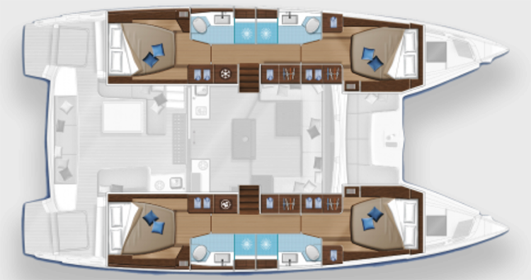 Lagoon-catamaran Lagoon 50 Layout 1