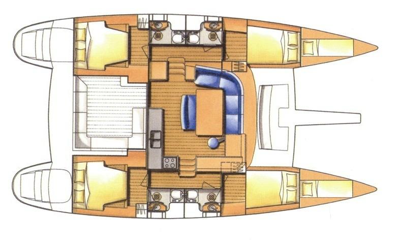 Lagoon-catamaran Lagoon 50 Layout 1