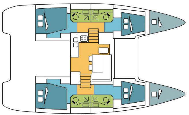 Lagoon-catamaran Lagoon 40 Layout 1