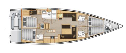 Hanse-yachts Hanse 548 Layout 1