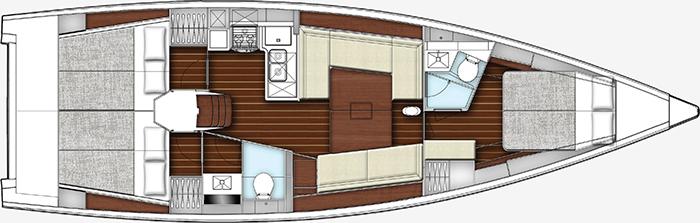 X-yachts Xyacht 43 Layout 1