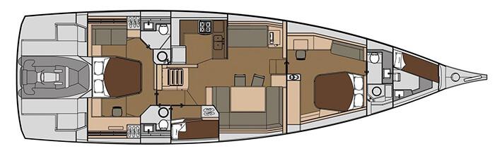 Dufour-yachts Dufour 63 Layout 1