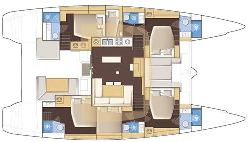 Lagoon-catamaran Lagoon 52 Layout 1