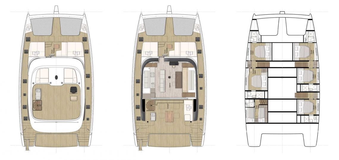 Sunreef-catamaran Sail 60loft Layout 1