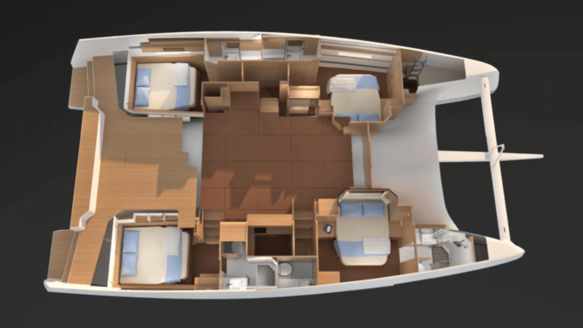 Dufour-yachts Dufour 48 Layout 1