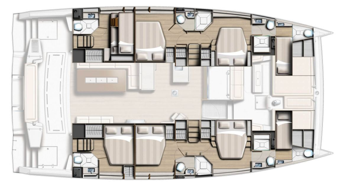 Catana-catamaran Bali 54 Layout 1