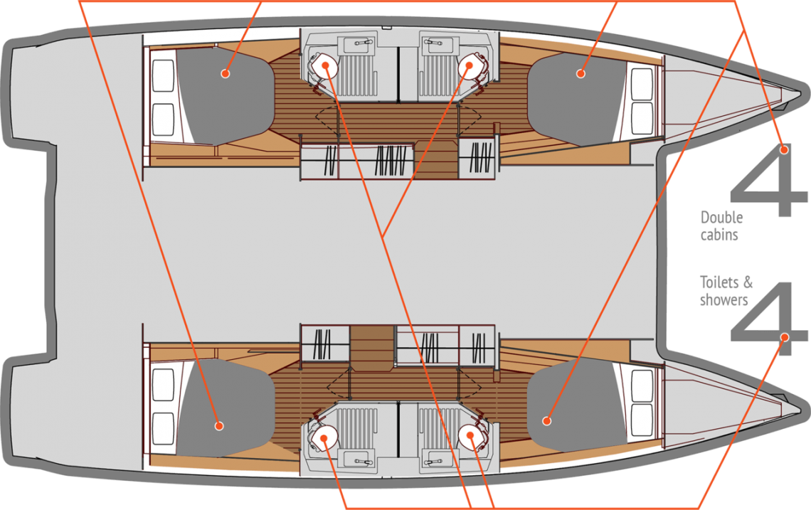 Fountaine-pajot Astrea 42 Layout 1