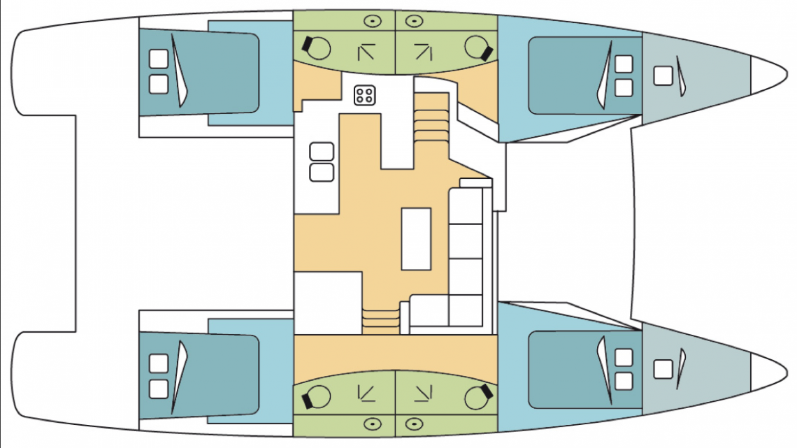 Fountaine-pajot Helia 44 Layout 0
