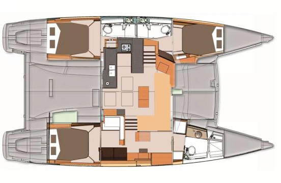 Fountaine-pajot Helia 44 Layout 14