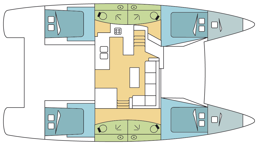 Fountaine-pajot Helia 44 Layout 2