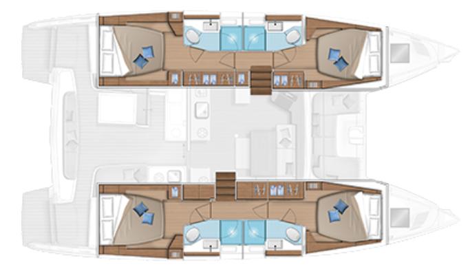 Lagoon-catamaran Lagoon 46 Layout 1