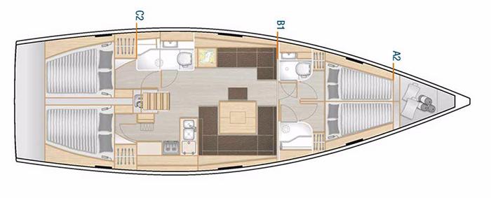 Hanse-yachts Hanse 458 Layout 1