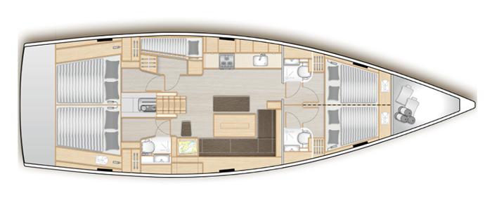 Hanse-yachts Hanse 508 Layout 1