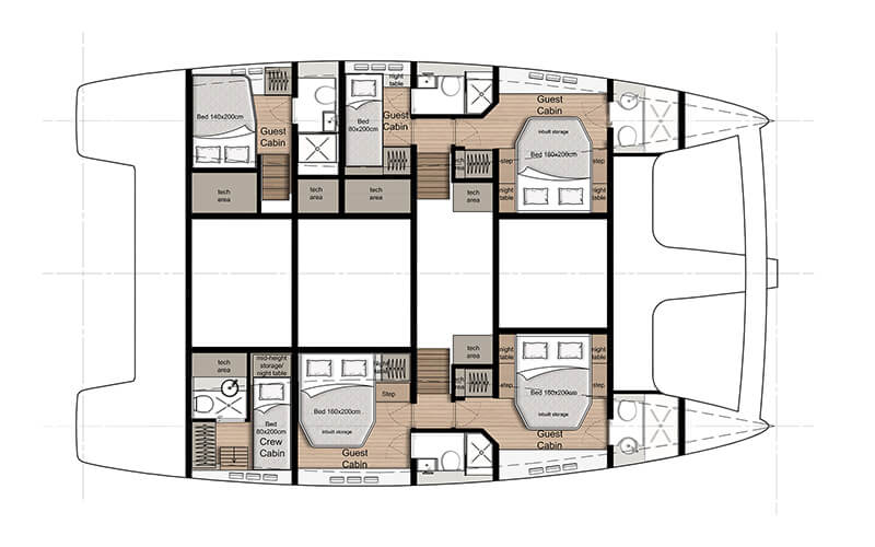 Sunreef-catamaran Sail 50 Layout 1