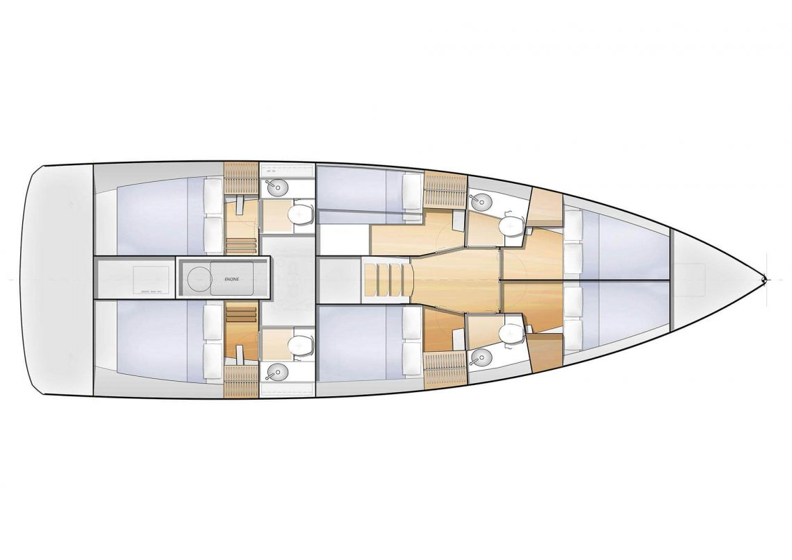Jeanneau Jeanneau Sunloft47 Layout 1