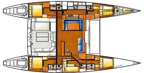 Lagoon-catamaran Lagoon 65 Layout 1