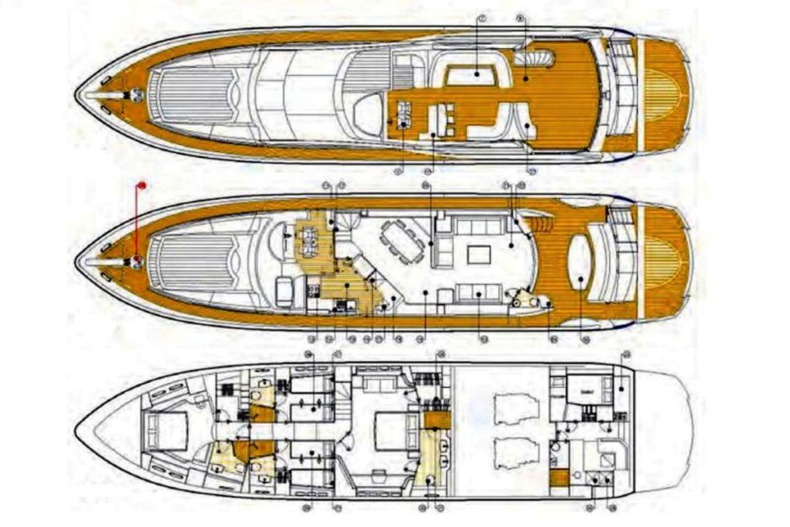 Sunseeker Yacht 90 Layout 1