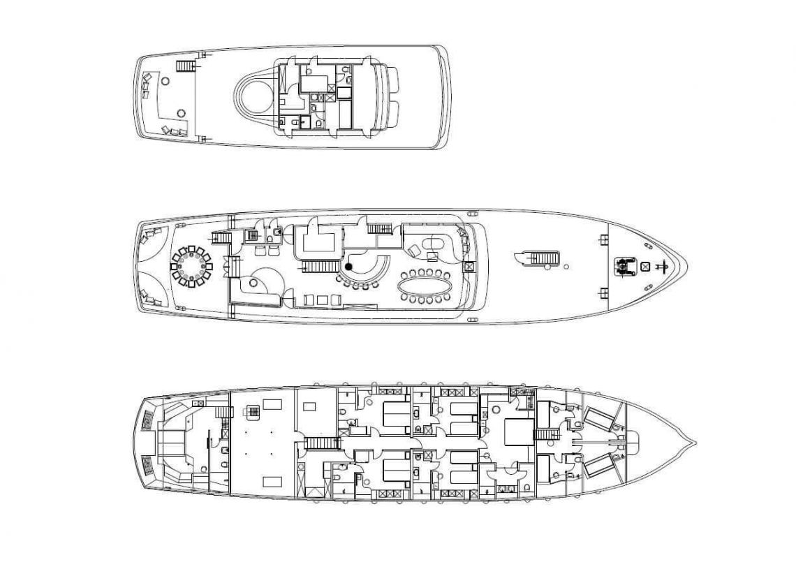 Custom Gulet 48m Layout 1