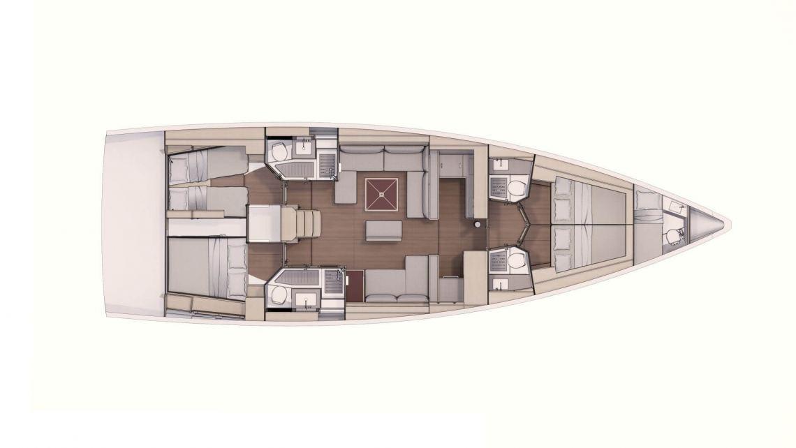 Dufour-yachts Dufour 530 Layout 2