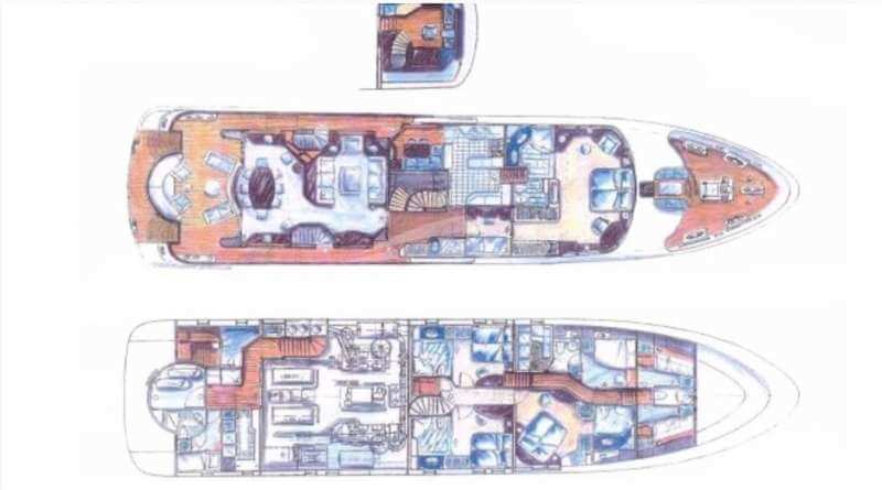 Moonen 34m Yacht Layout 1