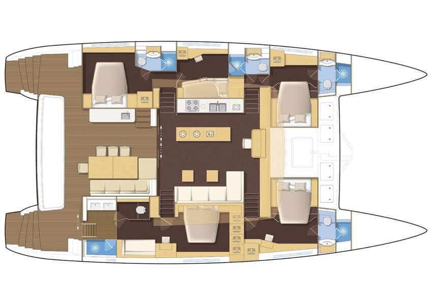 Custom Catamaran 59 Layout 1