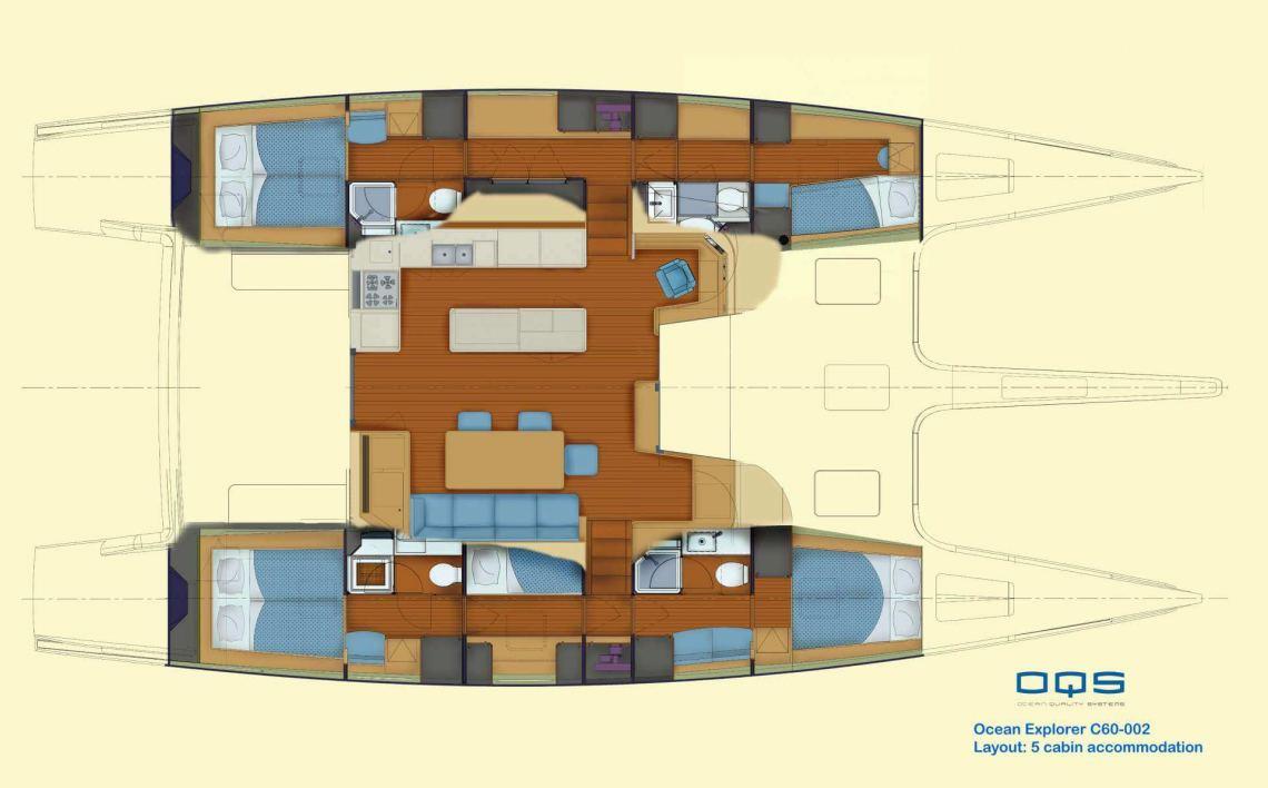 Ocean-quality-systems Catamaran 61 Layout 1