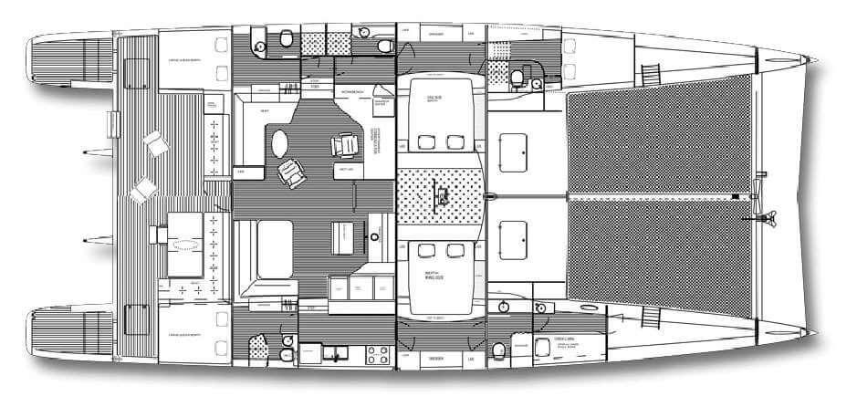 Custom Catamaran 72 Layout 1