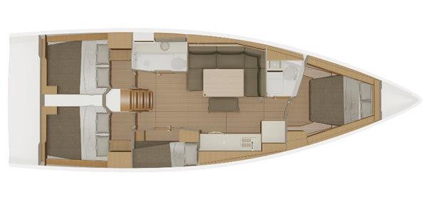 Dufour-yachts Dufour 430 Layout 1