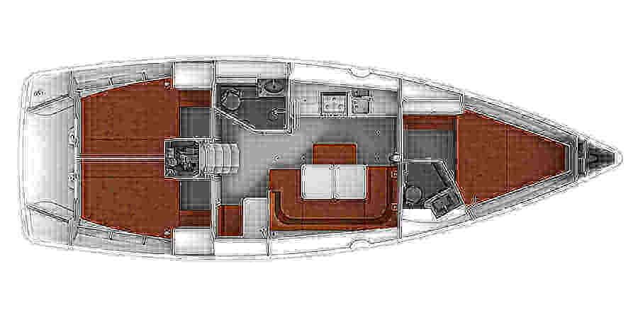Bavaria-yachts Bavaria 41 Layout 1