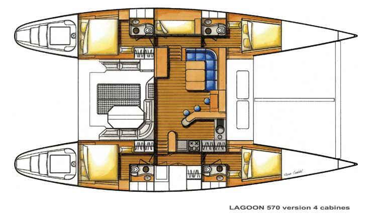 Lagoon-catamaran Lagoon 570 Layout 1