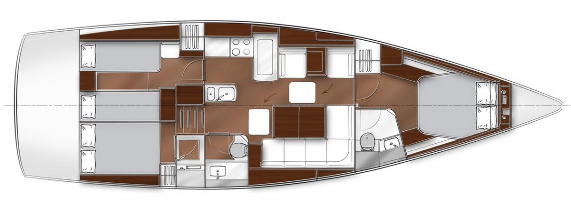 Bavaria-yachts Bavaria 46 Layout 0