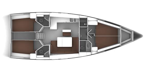 Bavaria-yachts Bavaria 46 Layout 1