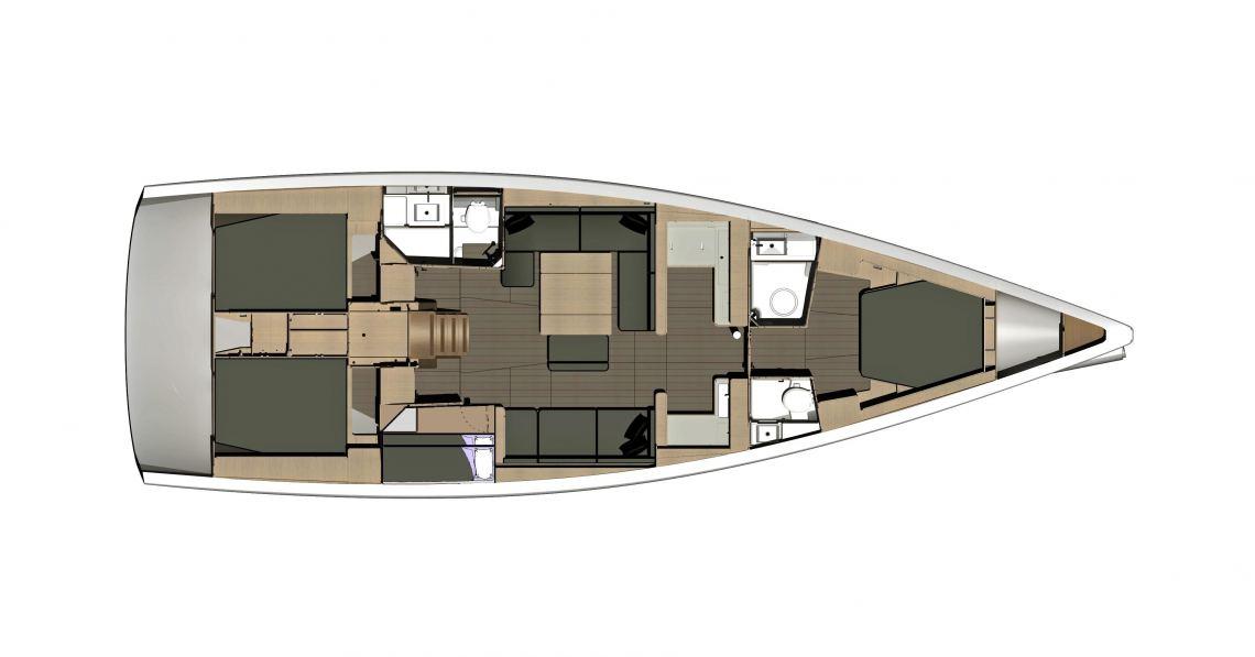 Dufour-yachts Dufour 500 Layout 1