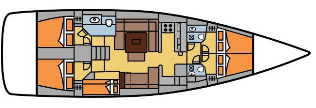 Dufour-yachts Dufour 500 Layout 6