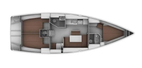 Bavaria-yachts Bavaria 40 Layout 1