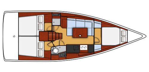 Beneteau Oceanis 38 Layout 1