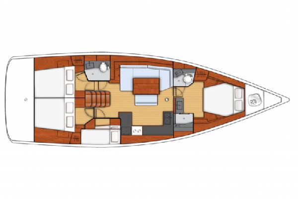 Beneteau Oceanis 48 Layout 1