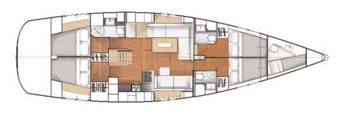Hanse-yachts Hanse 545 Layout 1