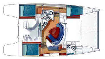 Fountaine-pajot Lavezzi 40 Layout 1