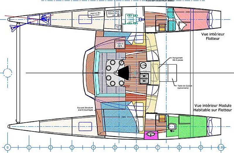 Edel-catamaran Edel 33 Layout 1