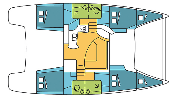 Fountaine-pajot Lipari 41 Layout 1