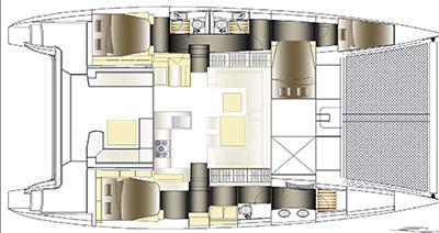 Nautitech-catamaran Nautitech 482 Layout 1