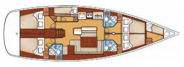 Beneteau Oceanis 50 Layout 1