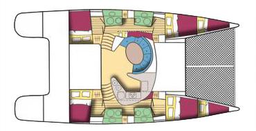 bahia 46 4 cabin layout