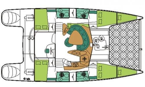 Fountaine-pajot Bahia 46 Layout 1