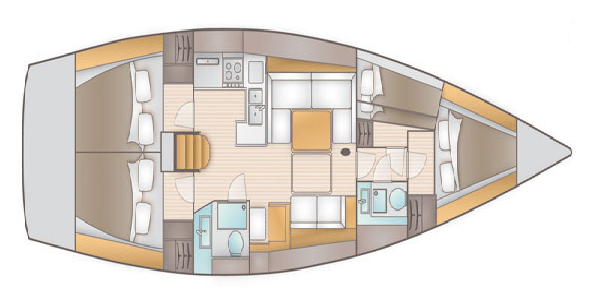 Salona-yachts Salona 44 Layout 1